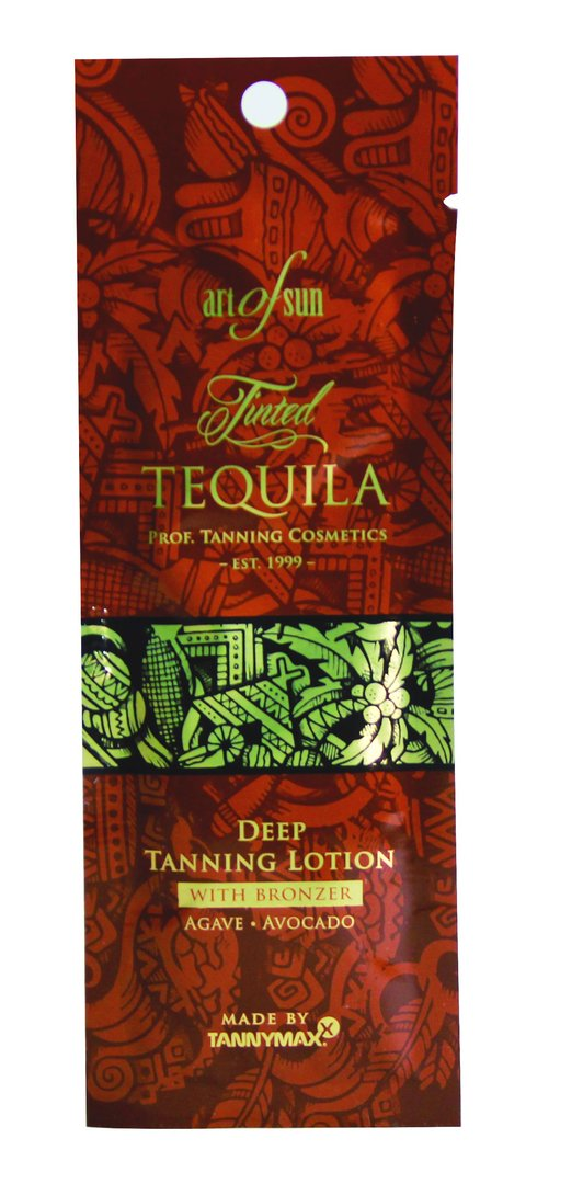Art of Sun - Tinted TEQUILA Deep Tanning Lotion + Bronzer - made by tannymaxx 15ml Sachet